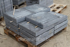 Granite plates of a paving