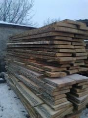 Boards, levels, rails, lath of strong breeds of