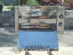 The electric cabinet oven section for pizza
