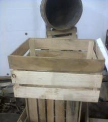 Container wooden. Boxes are wooden apple