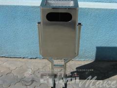 Metal ballot boxes for garbage