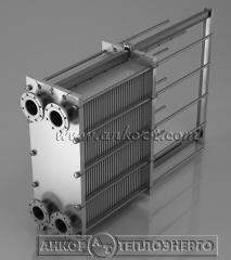 Охладитель представляет собой односекционный плакированный нержавеющей сталью разборной аппарат, изготавливаемый на основе теплообменных пластин РГ0,1; РГ0,2; РГ0,4; РГ0,8.