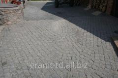 Stone blocks of chipped 10х10х10 Gabbros