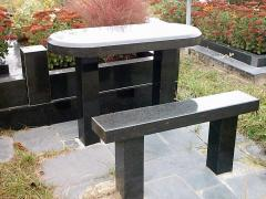 Benches granite different forms