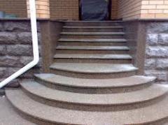 Steps from granite in assortmen