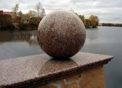 Spheres from a stone of the different sizes