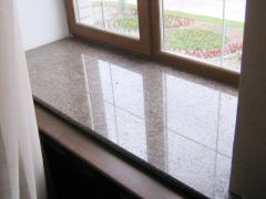 Window sills from a stone (granite)