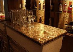 Bar counters from granite