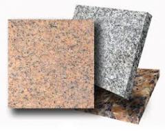 Tile granite facing in assortmen