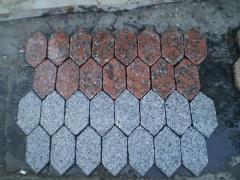 Granitany paving slabs
