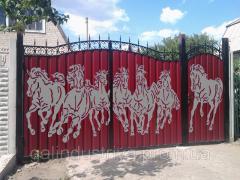 "Scenery for gate ""HORSES"
