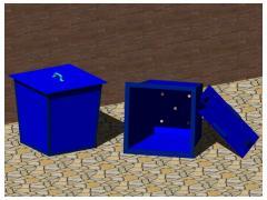 Металевий контейнер для сміття