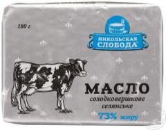 Масло 73% ГОСТ ТМ Никольская слобода, фас. 180 гр.