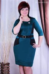 Knitted dress of the big PL1-614 sizes