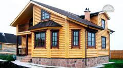 Обшивка стен дома блок хаусом деревянным -...