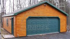 Siding block house for covering garages, sheds,
