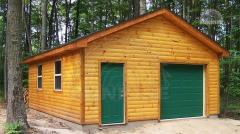 Siding blockhouse from pine, integral 28 mm x