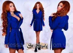 Кашемировое пальто синее