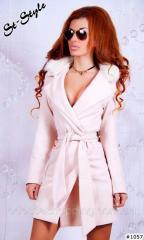 Пальто кашемировое белое