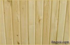 Lining for saunas, an europrofile width is 80 mm,