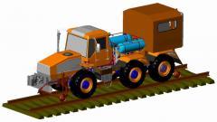 Shunting MMT-3 railmotor car