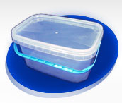 Bucket of 3 l rectangular