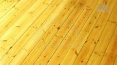 Floor board from pine, glued 20 mm x 118/146 mm