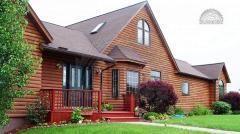 Блок-хаус сосновый для обшивки каркасного дома