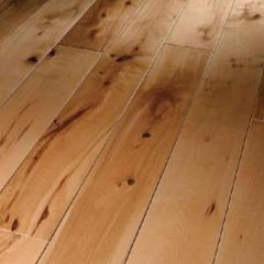 Wooden flooring, pine - Ukraine. Laying of a