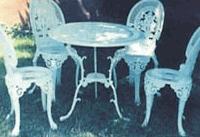 Набор садовой мебели из алюминия для кафе,
