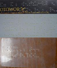Equipment for drawing a font of Braille