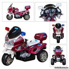 Детский мотоцикл Bambi M 0599 бордовый