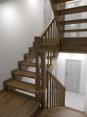 Ступени лестниц клееные, подступёнки, поручни,