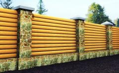 Billets for a  wooden fence