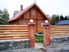 Заборы для коттеджей из дерева,  сосна