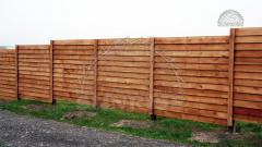 Wooden fences for giving