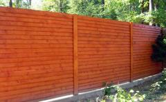 Fences are wooden continuous