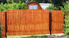 Fences from a fresh edged pine board