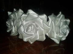 Обруч розы канзаши
