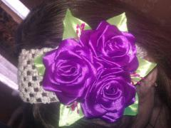 Bandage for hair a bouquet of roses of a kanzasha