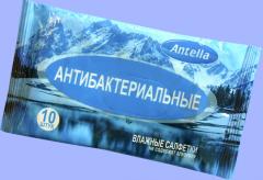 Салфетки влажные антибактериальные