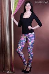 Лосины PS1-079-1 джинсы -лосины цветные