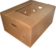 Banana box. The strengthened transportation box of