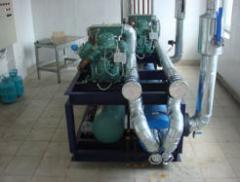 Chiller for water cooling, cold water units