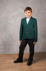 Jacket for the boy school green
