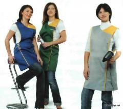 Aprons, oversleeves, overalls