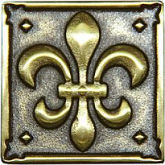 Decorative insert from Lily bronze (5x5 cm), an