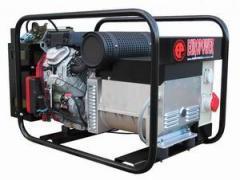 Gasoline-driven generators, power plants,