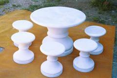 Furniture garden of Steklofibrobeton (SFB) Kiev,