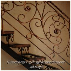 Лестницы металлические, кованые, ограждения